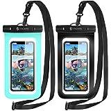 2枚セット [2021最新版] Syncwire 防水ケース スマホ用 IPX8認定 Face ID認証 完全保護 密封 iPhone 11 Pro XS MAX XR X 8 7 6s 6 Plus SE 5s Samsung galaxy S10
