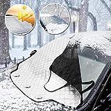 MATCC カーフロントカバー 雪対策 凍結防止カバー 車用サンシェード 車フロントガラスカバー 四季対応 軽自動車/SUV車/普通車に適用(205/145*111cm)