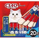 チャオ (CIAO) 猫用おやつ スティック かつお かつお節ミックス味 15g×20本