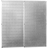 Wall Control 30-P-3232 GV Galvanized Steel Metal Pegboard Pack - Two Pegboard Tool Boards