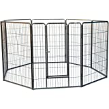 8 Panels Galvanised Pen Run for Dog Chicken Chook Rabbit Cat 80cm/110cm Height playpen