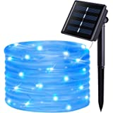 JMEXSUSS 8 Modes Solar Rope Lights Outdoor Indoor Waterproof String Lights 39.4 Feet 120LED for Garden Fence Patio Yard Party