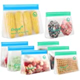 Reusable Storage Bags: Upgrade Stand Up Food Storage Bags, Lunch Bag, Snack Bag, Bpa Free Freezer Bag for Food Organization,
