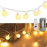 イルミネーションライト 5M 50個LED USB フェアリーライト クリスマスツリーライト 8種類の照明モード タイマー機能付き 適してベッドルーム|アウトドア|電飾|キャンプライト| 誕生日 ライト 防雨型