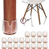 椅子脚カバー シリコン 20個入り(直径17-21mm対応)角脚·丸脚兼用 イス足カバー チェアソックス 椅子足カバー 椅子脚キャップ シリコン フェルト 滑りにく 騒音 床キズ防止 便利グッズ