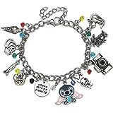HANRESHE Lilo & Stitch Chain Bracelet Cute Stitch Comic Charm Bracelets Costume Kids Jewelry Adjustable Bracelet Costume Came