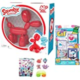 Increditoyz Squeakee The Ballon Dog (Red) with Stocking Stuffer Gift Set