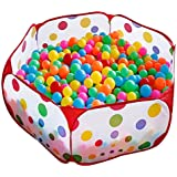 KUUQA ボールプール 六角形 児童テント 収納出来 100*50*37cm 混色 子供オモチャ 最高なプレゼント