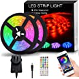 Findyouled 12M LED Strip Lights, Non-Waterproof 5050 Lights Strip Music Sync, App Control with Remote, LED Rope Light for Bed