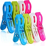 MCOMCE Beach Towel Clips for Pool Chairs, Plastic Beach Chair Clips, Towel Clips for Beach Chairs Cruise, Fashion Bright Colo