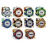 モンテカルロ 13.5g ポーカーチップ 10種類 50枚セット
