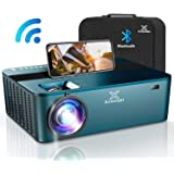 """Mini Projector,5500 Lumen Projector with 250"""" Diagonal,Projector for Outdoor Movies with Hi-Fi Speakers.Movie Projector with"""