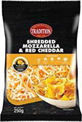Tradition Shredded Mozzarella and Red Cheddar,250g - Chilled