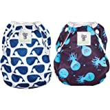 Sarah-Jane Collection Swimming Nappies - Set of 2 Stylish Swim Nappies Reusable for Baby & Toddler Eco-Friendly, Washable, Gr