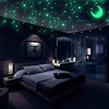 Realistic 3D Domed Glow in The Dark Stars, 572 Dots in 3 Sizes and A Moon for Ceiling Or Walls, Glow Brighter and Longer Than