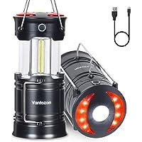 LEDランタン 高輝度 キャンプランタン usb充電式 電池式 2in1給電方法 フラッシュライト 折り畳み式 攜帯型…
