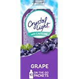 Crystal Light Sugar-Free Grape Energy Drink Mix with Caffeine (120 On-the-Go Packets, 12 Packs of 10)