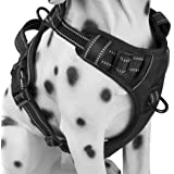 No Pull Dog Harness with Front Clip, Comfortable Reflective Pet Vest Harness with Handle for Puppy Small Dog (Black, XS)