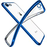 iPhone SE ケース 第2世代 iPhone8 ケース iPhone7 ケース 2020年新型 クリア 透明 tpu シリコン メッキ加工 スリム 薄型 4.7インチ スマホケース 耐衝撃 ストラップホール 黄変防止 一体型 人気 携帯カバー