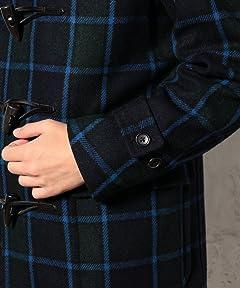 Black Watch Basic Duffle Coat 3225-139-1821: Black Watch