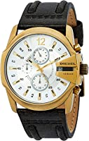 Diesel Men's Quartz Watch chronograph Display and Leather Strap DZ4435I
