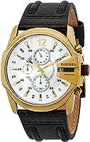Diesel Men's Quartz Watch chronograph Display and Leather Strap DZ4435I