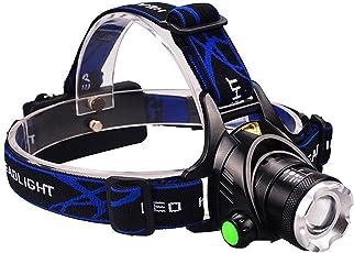 DLAND LEDライト 防水 超明るい ヘッドランプ 充電式電池付き 1000Lm ルーメン ヘッドランプ 3点灯モード ヘッドライト 懐中電灯 ハンズフリー式
