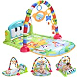 WYSWYG 赤ちゃん ピアノプレイジム ベビープレイマット ベビージム 音楽&ライト 感覚刺激 早期教育 新生児 ベビーおもちゃ 出産祝いプレゼント 0ヶ月~(緑)