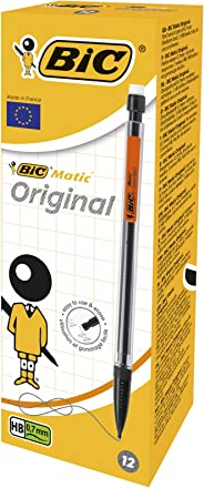 BIC Matic Original HB Mechanical Pencils (0.7 mm) - Assorted Body Colours, Box of 12