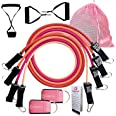 Cheeky Bands Exercise Resistance Band Set - Latex Pull Up Tubes Stackable to 100lbs with Handles, Ankle Straps, Door Attachme