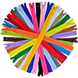 80 Pieces Nylon Coil Zippers, Bantoye 16 Inches Colorful Sewing Zippers Supplies for Tailor Sewing Crafts, 20 Assorted Colors