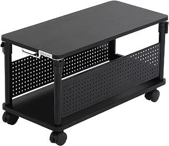 Bauhutte (バウヒュッテ) ゲーミングデスク 昇降式L字デスク PCワゴン ローデスク 座椅子との相性ばつぐん (天板32×67cm×高さ36~46cm) BHD-670L-BK