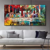 Wall Art , Posters , Prints , Graffiti Art Last Supper By Canvas Art Painting Classical Wall Art Canvas Print , Posters For B
