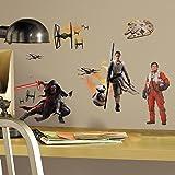 Star Wars VII Characters Peel and Stick Wall Decals スターウォーズVIIキャラクターピールとスティック壁飾り♪ハロウィン♪クリスマス♪ [並行輸入品]