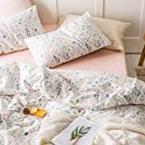 VKStar Twin Duvet Cover Sets 100% Cotton Kids/Teens Duvet Cover Fresh Style with 2 Pillowcases Students Children Bedding Coll