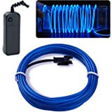 Lychee Neon Light El Wire with Battery Pack, 15 Feet, Blue