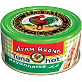 Ayam Brand Tuna Mayonnaise Hot | Wild Caught Premium Tuna | Hot Chilli Flavour | Protein, Omega 3, Vitamin E, B6 & B12 | Hala