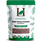 H&C 100% Pure Rose Petals Powder (Rosa Centifolia) For Facial Mask Formulation - 1/2 Lb/ 227 Gms / 8 Oz