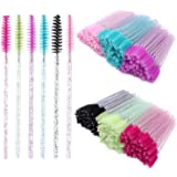 300 Disposable Mascara Wands Eyelash Brush Spoolies for Eye Lash Extension, Eyebrow and Makeup Crystal