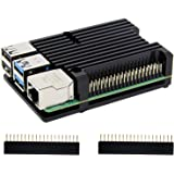 Geekworm Raspberry Pi(ラズベリーパイ) 4 B 用アーマー金属ケース パッシブ冷却/シェル熱放散 ラズベリーパイ4 コンピュ ータモデルB適用 (アーマーケース(ファン無し))