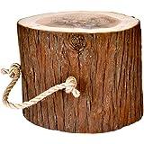 【COTTAGE (コテージ)】 薪割り台 キャンプ用 ハンドル付 高さ20cm / 樹皮付き
