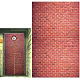 Platform 9 and 3/4 King's Cross Station, Curtains Door, Red Brick Wall Party Backdrop, Secret Passage to The Magic School, Pl