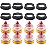 LOVFASH 8pcs Round Shape Cake Mold Mousse Circle, Cutter Decorating Tool French Dessert DIY Perforated Ring Non Stick Bakewar