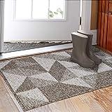 """Indoor Doormat 32""""x 48"""", Absorbent Front Back Door Mat Floor Mats, Rubber Backing Non Slip Door Mats Inside Mud Dirt Trapper"""