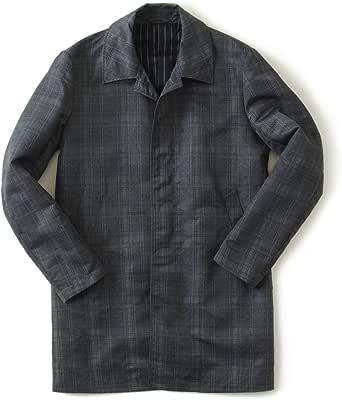 Timone ティモーネ メンズ コート ナイロン チェック コート KT010124 CHECK ステンカラーコート