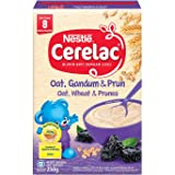 Nestlé Cerelac Baby Food, Oats, Wheat and Prunes, 250g