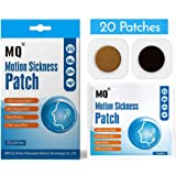 Motion Sickness Patch - 20 Pack - Works to Relieve Vomiting, Nausea, Dizziness and Other Symptoms Resulted from Sickness of C
