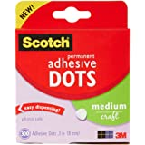 Scotch Brand Scotch 010-300M 300-Pack Adhesive Dots, Medium, 010-300M, Plastic, Clear, 300 Count
