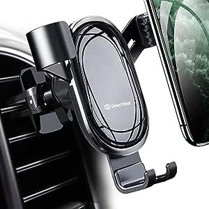 DesertWest 車載ホルダー オートホールド式 片手操作 【令和モデル】 スマホホルダー 自由調節 エアコン吹き出し口用 スマホほるだー 車 スマホスタンド 車用 携帯ホルダー 重力固定式 アイフォン 車載ホルダー 電気めっき 鏡面仕上げ 自動開閉 取り付け簡単 360度回転 日本語説明書付き/4-6.5インチ多機種対応 iPhone/Samsung/Sony/LG/Huawei など
