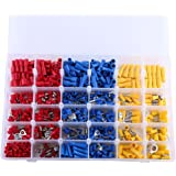 Insulated Electrical Wire Terminal, 720Pcs Insulated Assorted Electrical Wire Terminal Crimp Connector Spade Set Kit with Sto